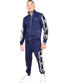 George V Paris Skulls Jacket & Joggers (Navy/Silver)
