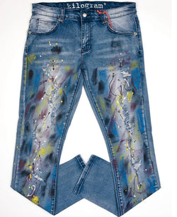 Kilogram Graffiti Denim (Paint Splatter)