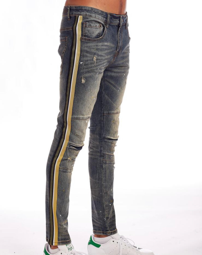 Kindred Yellow Stripe Denim (Timber)