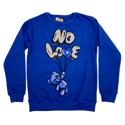 Retro Label No Love Air Crewneck (Retro 3 Blue Cement)