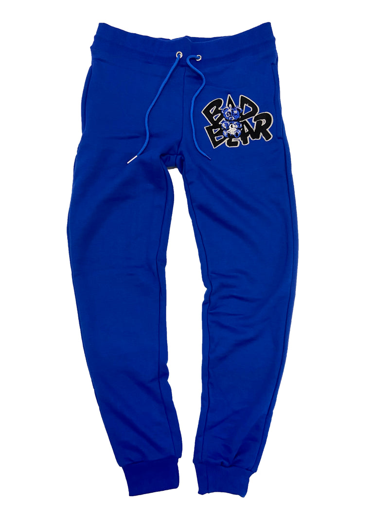 Retro Label Bad Bear Joggers (Retro 3 Blue Cement)