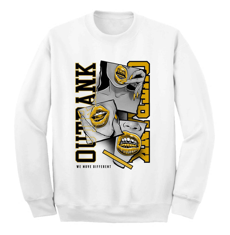 Outrnk We Move Different Crewneck (White)