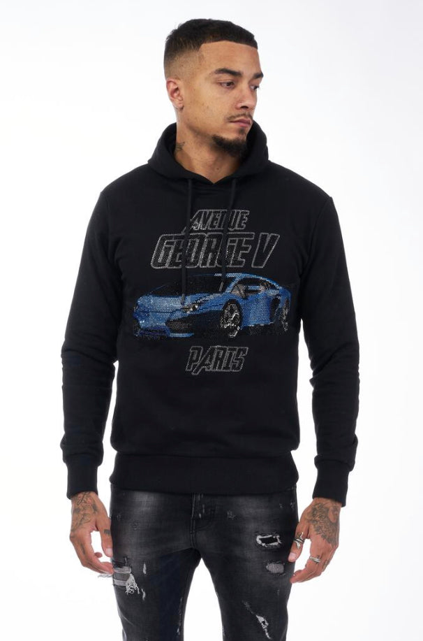 George V Paris Fast Lane Hoodie (Black)