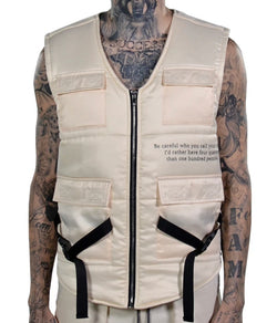 THC X THE SHOP 147 Four Quarters Puffer Vest (Light Tan)