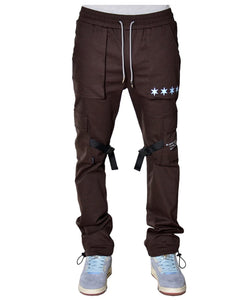 THC X THE SHOP 147 Four Quarters Flared Cargo Pants (Chocolate)