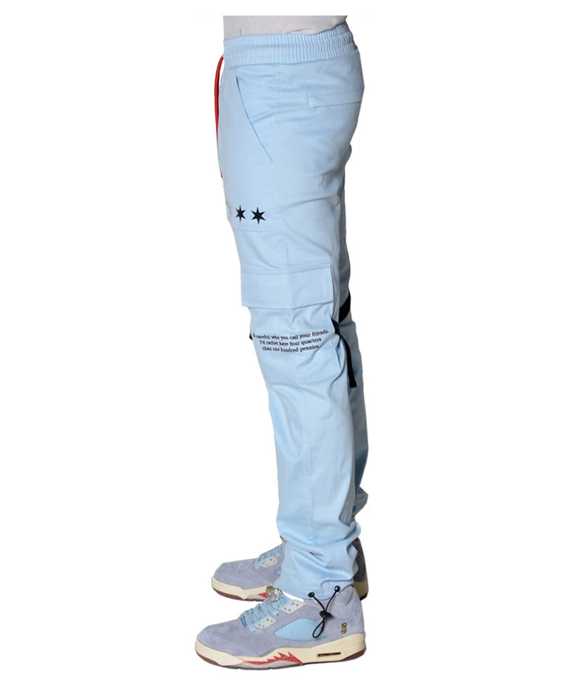 THC X THE SHOP 147 Four Quarters Flared Cargo Pants (Chi Blue)