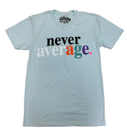 Fashion Geeks Never Average Logo Shirt (Baby Blue)
