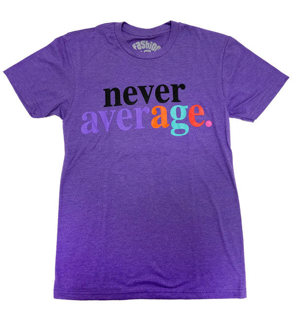 Fashion Geeks Never Average Logo Shirt (Purple)