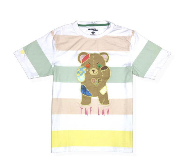 Genuine Patched Bear (Pastel White)
