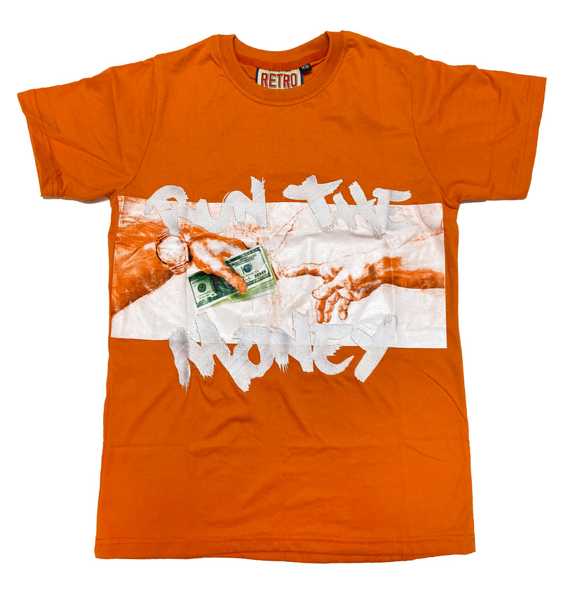 Retro Label Run the Money Shirt (Retro 4 Orange)