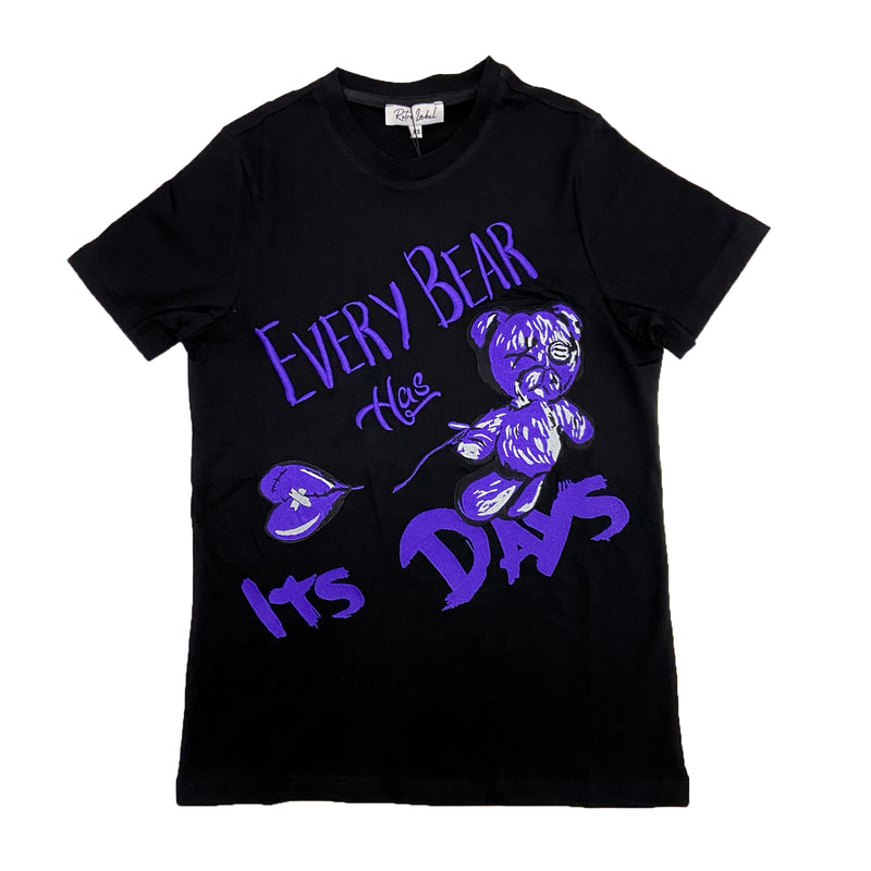 Retro Label Bear Days Shirt (Retro 12 Dark Concord)