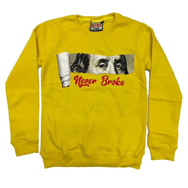 Retro Label Never Broke Crewneck (Retro 5 What The)