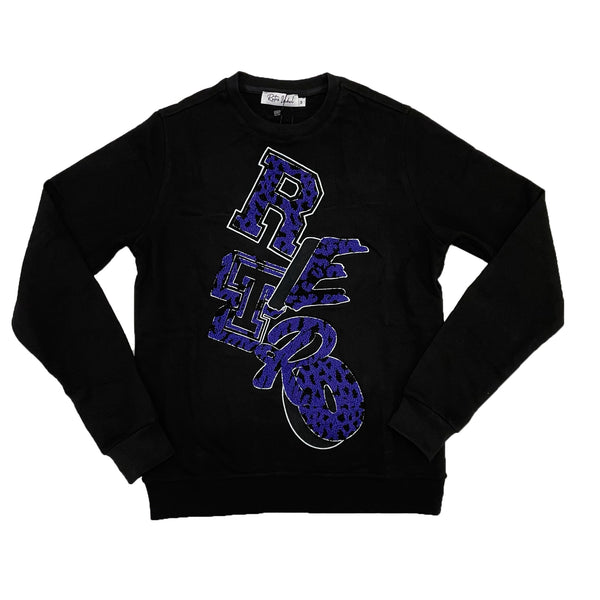 Retro Label Retro Print Crewneck (Retro 12 Dark Concord)
