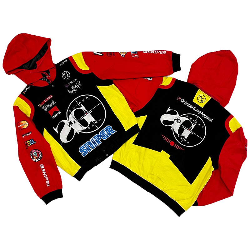 Sniper Gang Nascar Jacket (Black/Red/Yellow)