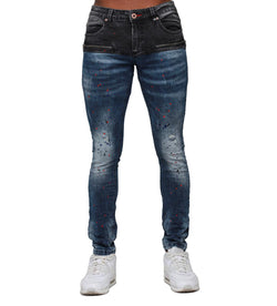 Royal 7Even RS7 Platinum Jean (Red/Blue Paint Splatter)