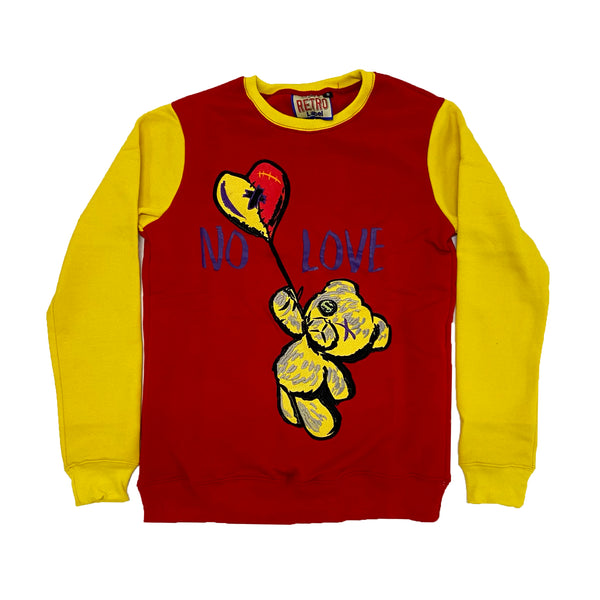 Retro Label No Love Crewneck (Retro 5 What The)