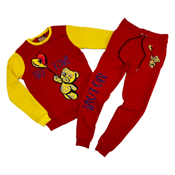 Retro Label No Love Crewneck & Jogger Set (Retro 5 What The)