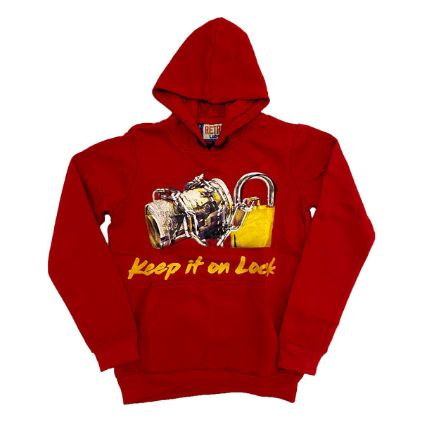 Retro Label Keep it on Lock Hoodie (Retro 5 What The)