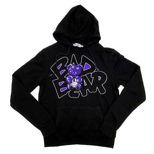 Retro Label Bad Bear Hoodie (Retro 12 Dark Concord)