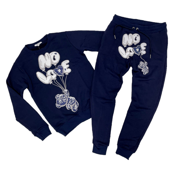 Retro Label No Love Air Crewneck & Jogger Set (Retro 3 Georgetown)