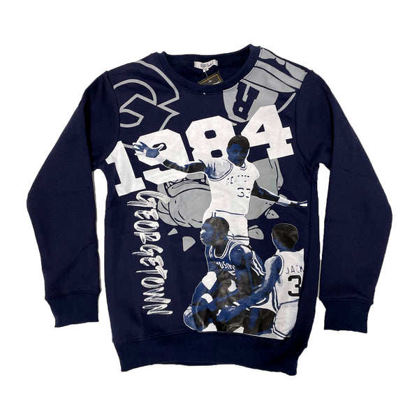 Retro Label 1984 Georgetown Crewneck (Retro 3 Georgetown)