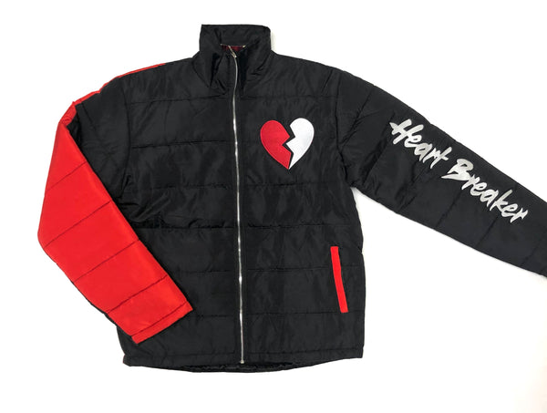 RETRO LABEL HEART BREAKER BUBBLE JACKET (BLACK/RED)