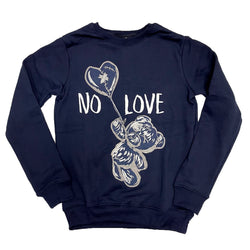 Retro Label No Love Crewneck (Retro 1 Midnight Navy)