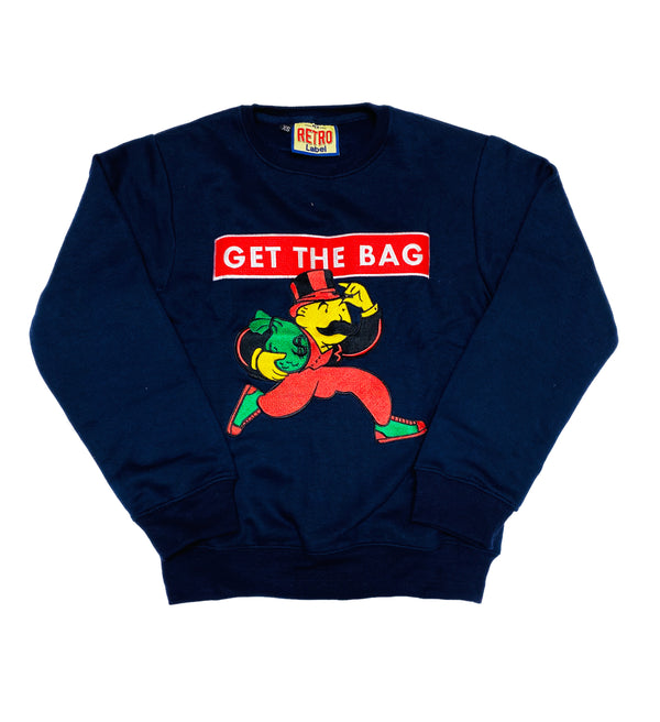 Retro Label Get The Bag Crewneck (Navy)