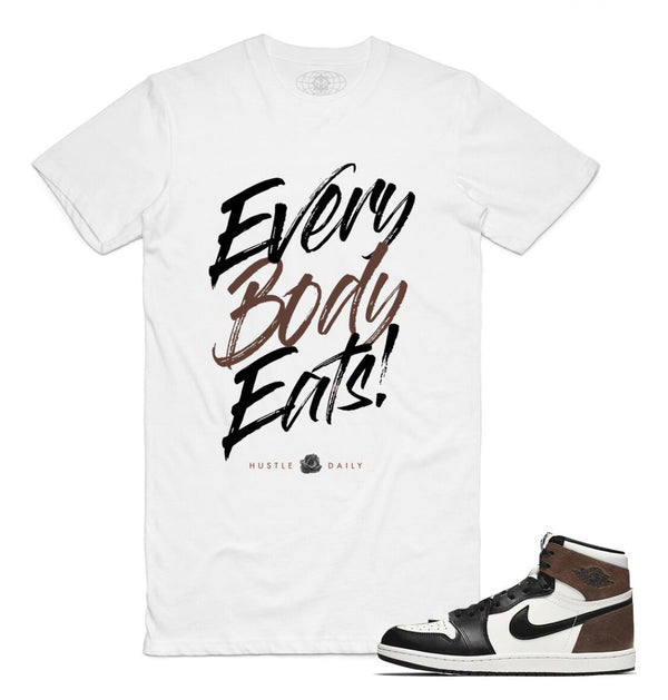 Hustle Daily Everybody Eats Shirt (White)
