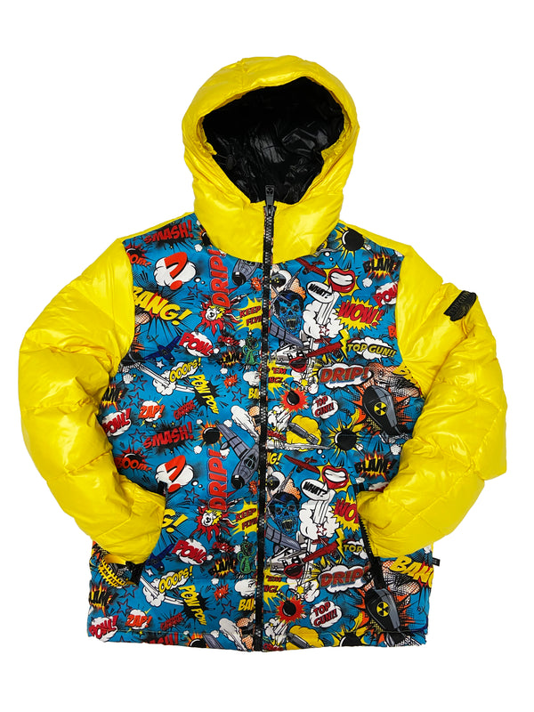 Top Gun Comics Solid Down Jacket (Yellow)