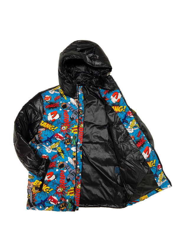 Top Gun Comics Solid Down Jacket (Black)
