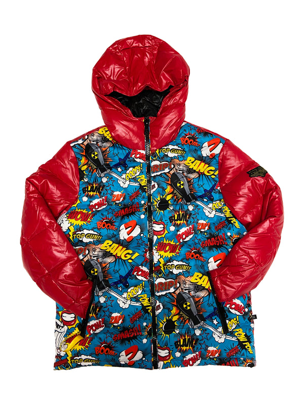 Top Gun Comics Solid Down Jacket (Red)