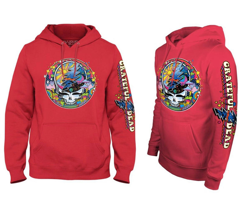 Liquid Blue Grateful Dead SYF MAX Hoodie (Red)