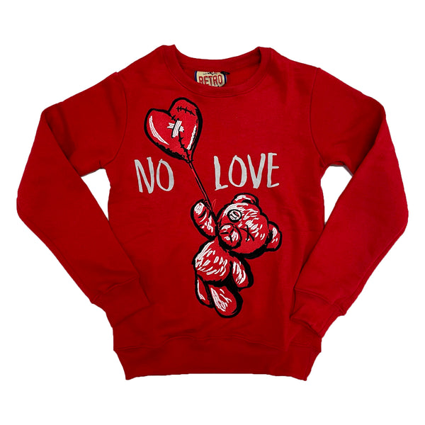 Retro Label No Love Crewneck (Retro 4 Fire Red)