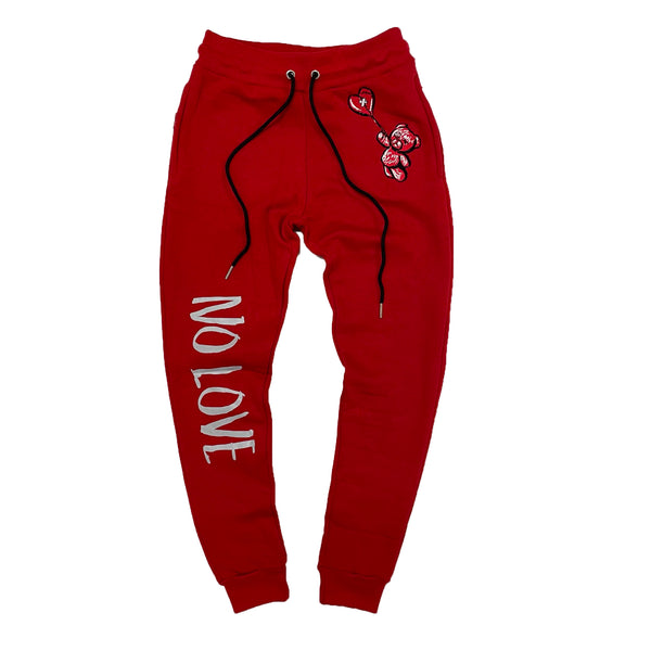 Retro Label No Love Joggers (Retro 4 Fire Red)