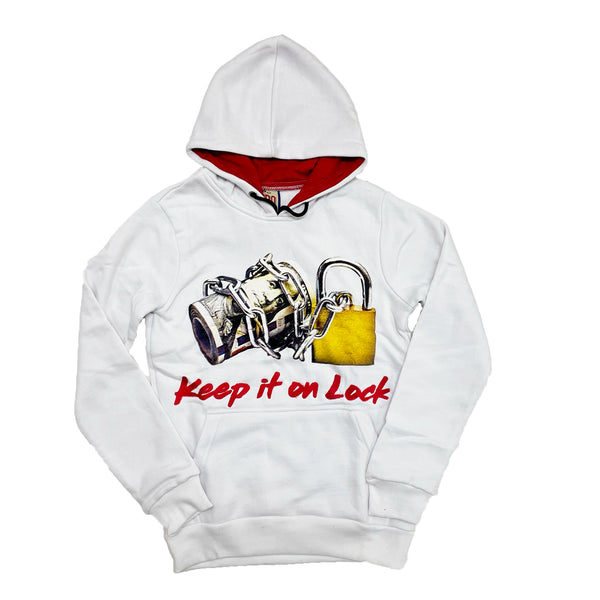 Retro Label Keep it on Lock Hoodie (Retro 4 Fire Red)