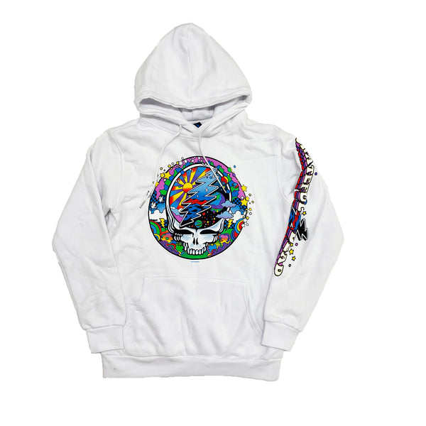 Liquid Blue Grateful Dead SYF MAX Hoodie (White)