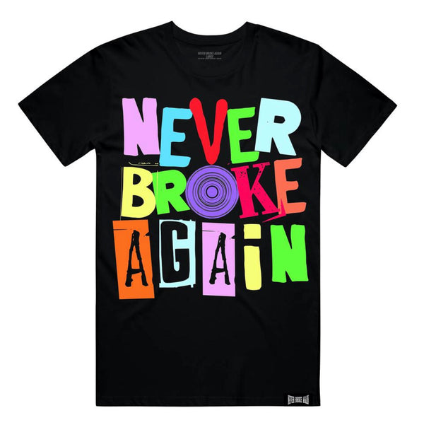 Never Broke Again Spiral Shirt (Black)