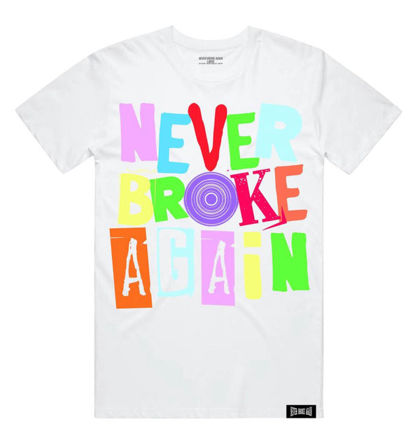 Never Broke Again Spiral Shirt (White)