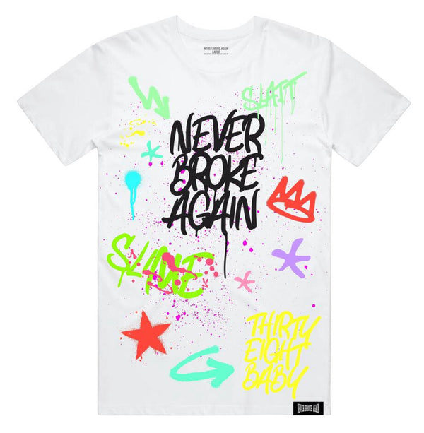 Never Broke Again 38 Slatt Shirt (White)