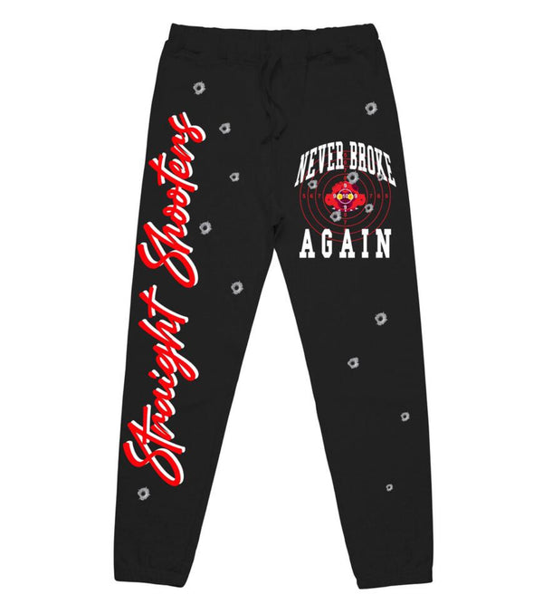 Never Broke Again Straight Shooters Joggers (Black)