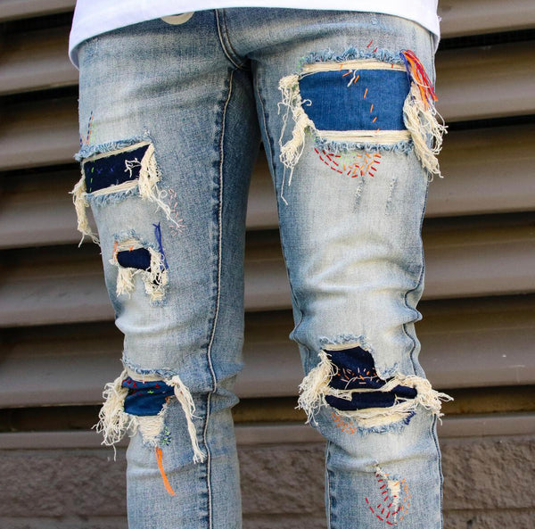 THRT Handmade Denim (Red/Orange Stiches)