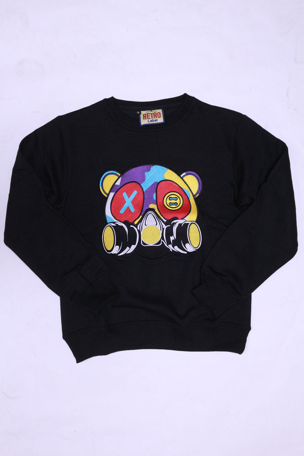RETRO LABEL Gas Mask Crewneck (Black)