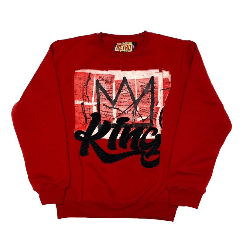 Retro Label King Crewneck (Retro 13 Reverse He Got Game)