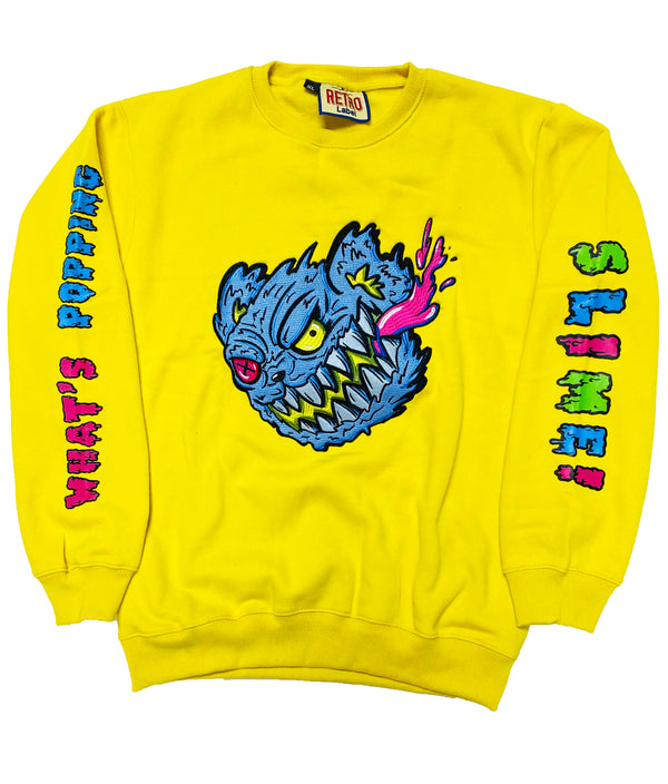 RETRO LABEL Slime Bear Crewneck (Yellow)