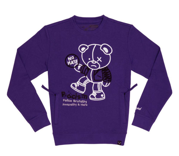 Civilized Equality Bear Crewneck (Purple)