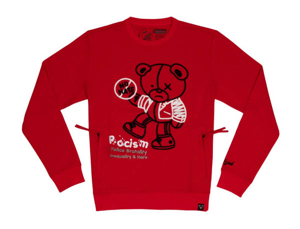 Civilized Equality Bear Crewneck (Red)