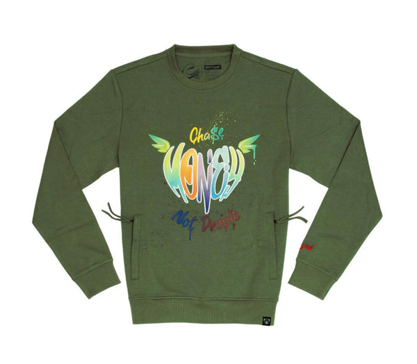 Civilized Chase Money Crewneck (Olive)