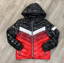 Black Keys Color Block Jacket (Black/Red)