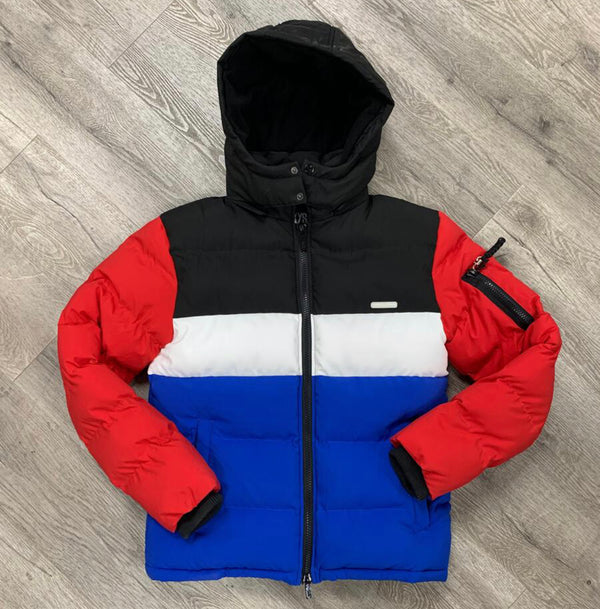 Black Keys Color Block Jacket (Red/Black/Blue)